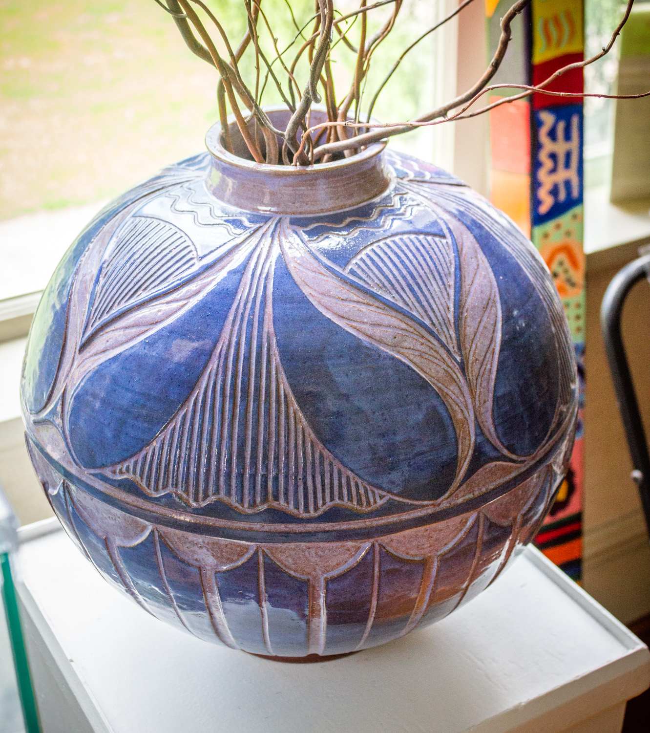Stoneware Pottery Vessel by Larry Allen, 1996, Cheaha Exhibit Purchase Award Winner