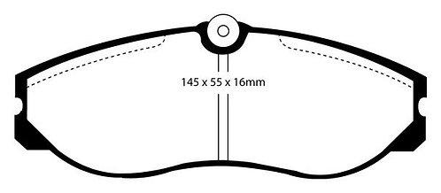 PLAQUETTES  AvantL: 145mm  H 55,9mm  Ep: 15mm Pour étrier LUCAS MFP-2017
