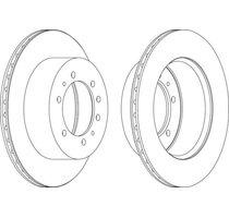 2 DISQUES de FREINS Arrière Ventilé - Ø 316,4mm - Ep: 18mm  MRD-2116x2