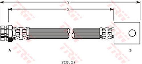 FLEXIBLE d'EMBRAYAGEL: 262mmMBH-2152