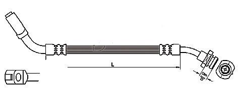 FLEXIBLE de FREINFemelle / Banjo - L: 465mm - AvantMBH-2N06