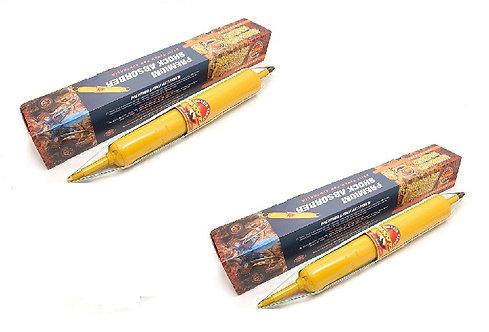 2 AMORTISSEURS Gaz Avant - Œil / Tige pour +30 à +60mmG12637x2