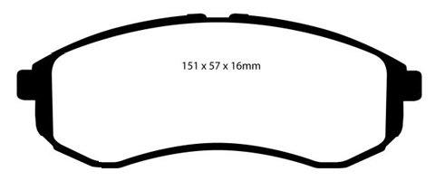 PLAQUETTES de FREIN AvantL: 151mm - Hauteur 56,5mm - Ep: 15mmMFP-2M06