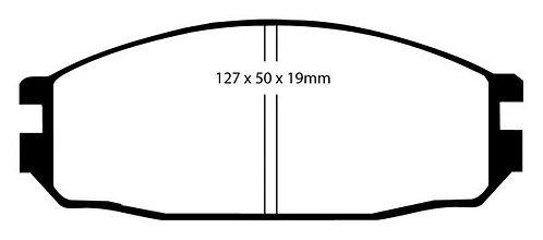 PLAQUETTES de FREIN ArrièreL: 127,6mm - Hauteur 50,7mm - Ep: 16,5mm MRP-2136ebc