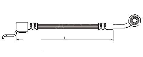 FLEXIBLE de FREINFemelle / Banjo - L: 490mm - AVD - Jusqu'à 09/2002MBH-2J04
