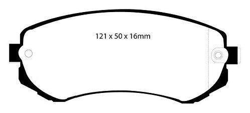 PLAQUETTES de FREIN ArrièreL: 121mm - Hauteur 50mm - Ep: 15,5mmMRP-2137