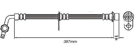 FLEXIBLE de FREINFemelle / Banjo - L: 430mm - AVGMBH-2T11