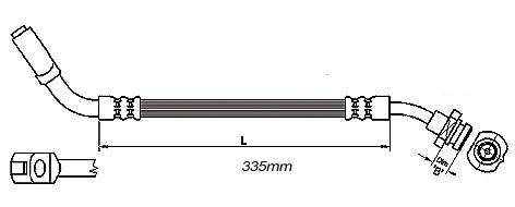 FLEXIBLE de FREINFemelle / Banjo - L: 430mm - AVDMBH-2N68