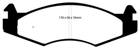 PLAQUETTES de FREIN AvantL: 176,7mm - Hauteur 56mm - Ep: 15,8mmMFP-2J04