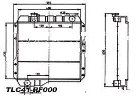 RADIATEUR de RefroidissementEntrée & sortie du même côtéTLC41-RF000