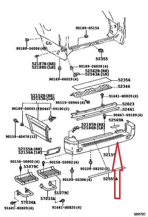 ENVELOPPE de Pare-Choc Arrière [Origine constructeur]TLC92-24100G