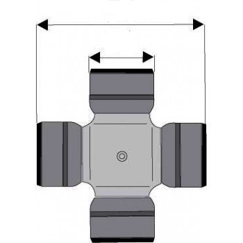 Croisillon (adaptable) ø 29 mm L 78 mm Muj-5200