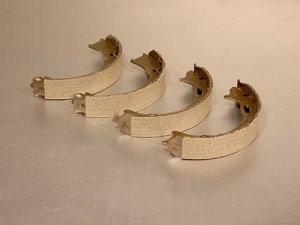 MACHOIRES de FREIN à MAIN (jeu de 4)Ø 185mm - Largeur: 31mmMHB-2J06