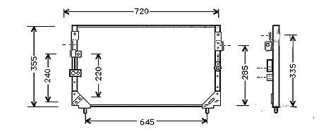 CONDENSEUR de Clim jusqu'au 05/1993Entraxe fixations inf 645mmMCA-5T18