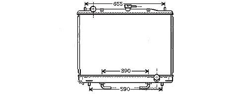 RADIATEUR de Refroidissement3,5i 24v - BVAMPV02-RF036
