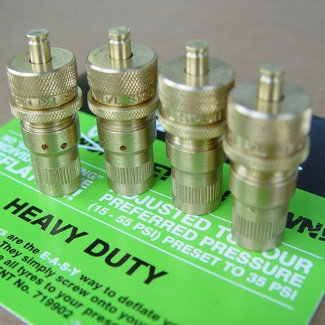 Degonfleurs pneus Staun 1.03 a 3.9 bars (jeu de 4) : vert Référence  SCVHD