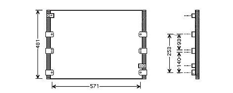CONDENSEUR de Climatisation563 x 483 x 20MCA-5T20