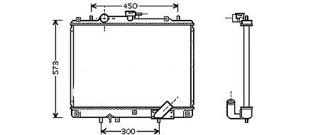 RADIATEUR Faisceau: hauteur 500mm - ép 25mm - A partir de 08/1998MK941-RF001