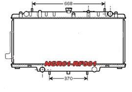 RADIATEUR de RefroidissementPour Boite de vitesses manuelleNGR61-RF001