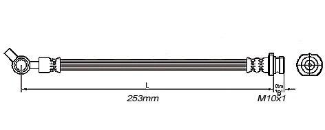 FLEXIBLE de FREIN AVANTFemelle / Banjo - L: 273mm - MBH-2N00