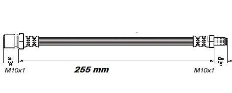 FLEXIBLE de FREINFemelle / Mâle - L: 280mm - ARGMBH-2N04