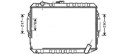 RADIATEUR3.0i  BVM  A partir de 06/1994 - Entrée & sortie opposées MPV01-RF006