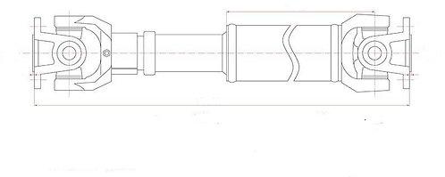 ARBRE de TRANSMISSION Arrière BVM - Montage sans viscocoupleurTLC81-37110