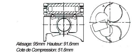 pistons pajero 2.8td toyjaune