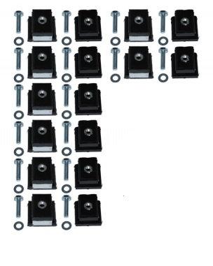 Kit complet silent bloc de caisse polyuréthane (livré avec visserie) lsb1003