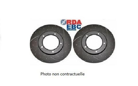 DISQUE de FREIN Avant Rainuré/Pointé RDA (La Paire)Ventilé - Ø 300mm MFD-2N07RP