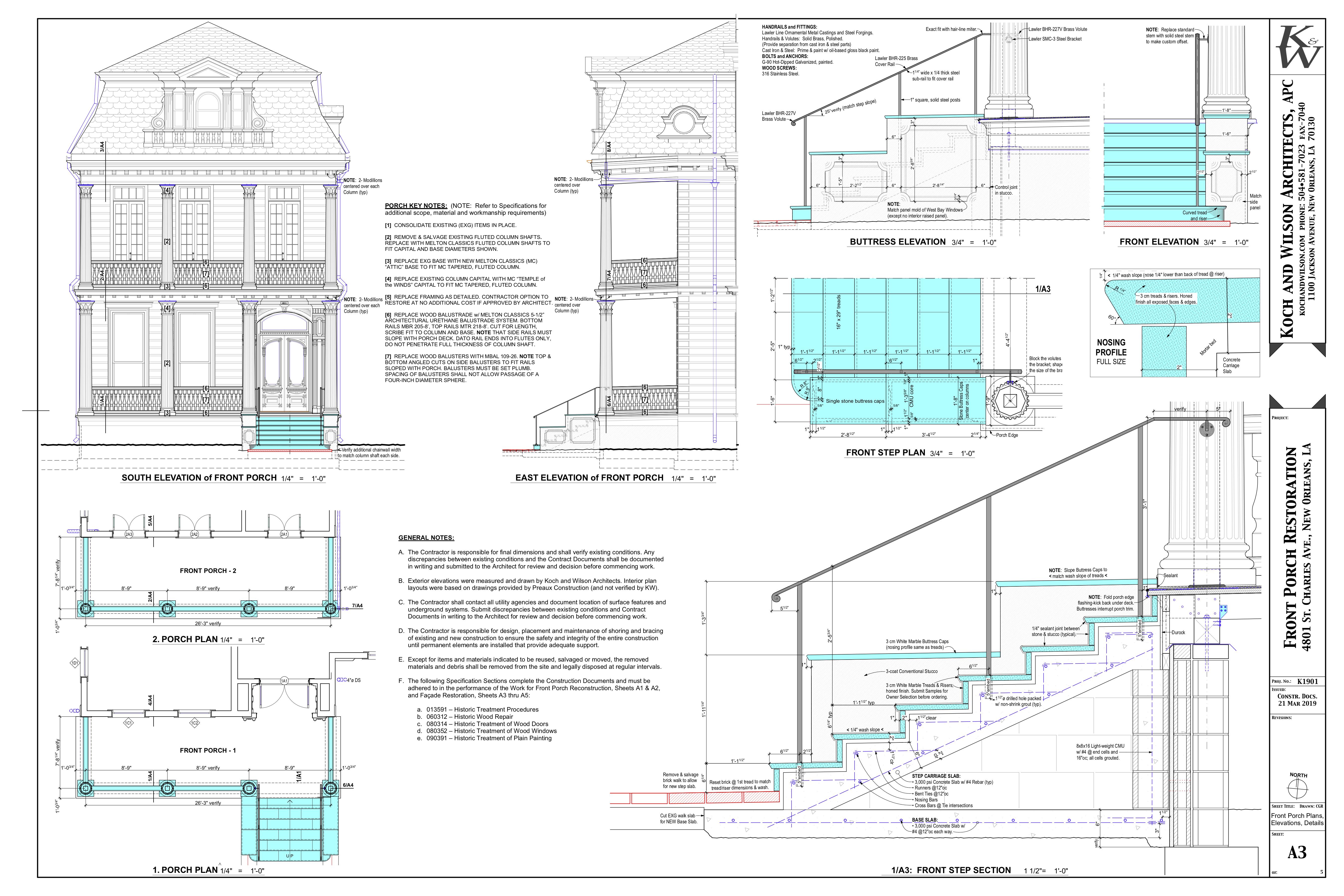 A3 Front Porch Plans & Details