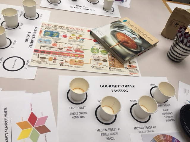 Customized tasting stations accounting for color and flavor