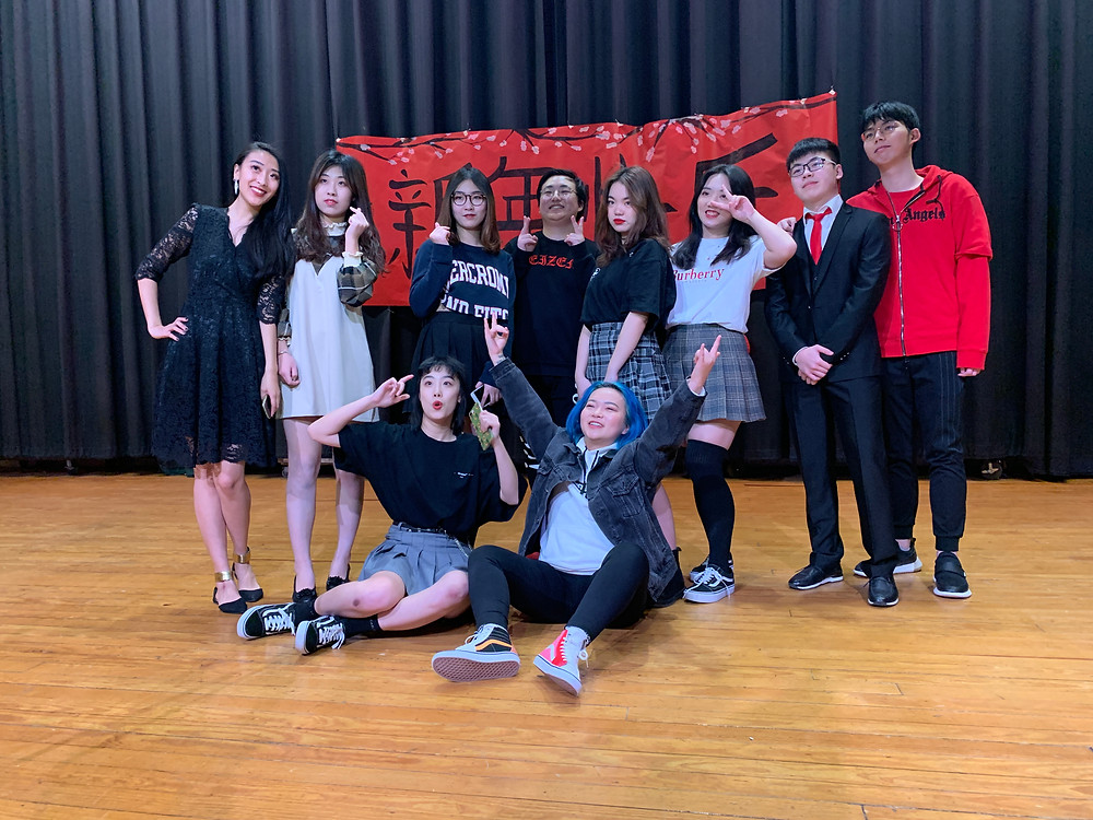 MAIA students pose for a photo after their spectacular performance at Marlboro High School's talent show