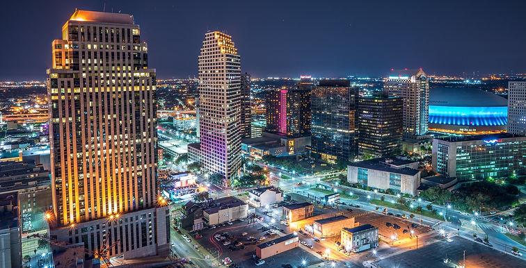 A beautiful skyline image of New Orleans, Louisiana.