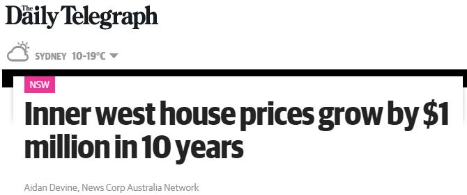 雪梨上半年房產總銷量同比大漲28.9%!內西區房價10年飆升$100萬!
