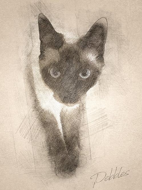 Style B - Artistic Sketch:  Digital File Download