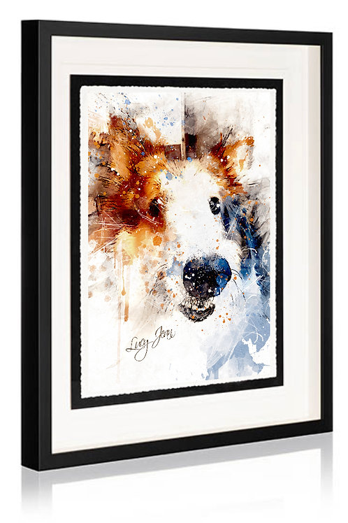 Style A - Artistic Watercolor:   Framed Fine Art Print
