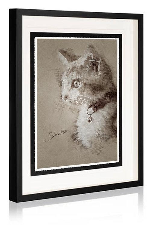 Style B - Artistic Sketch:   Framed Fine Art Print