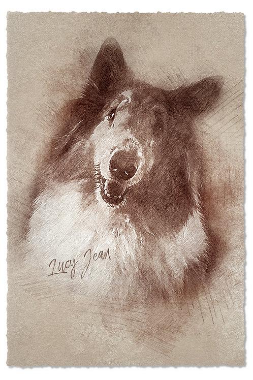 Style B - Artistic Sketch:  Fine Art Print+ Digital Download