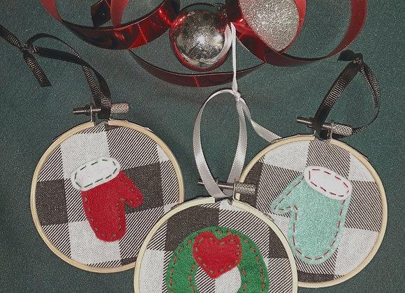 Buffalo check ornament--assorted designs