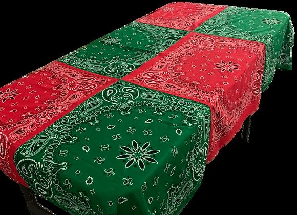 Christmas tablecloth (for the kids' table)
