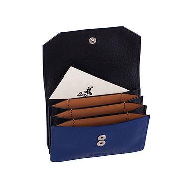 58TH ST. ACCORDION CARD HOLDER  A.Blue