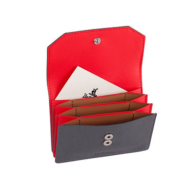 58TH ST. ACCORDION CARD HOLDER  Grey/Red