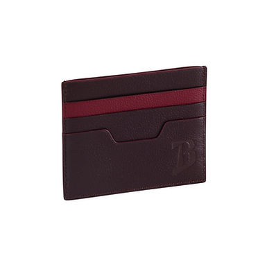 48TH ST. FLAT CARD HOLDER  Chocolate