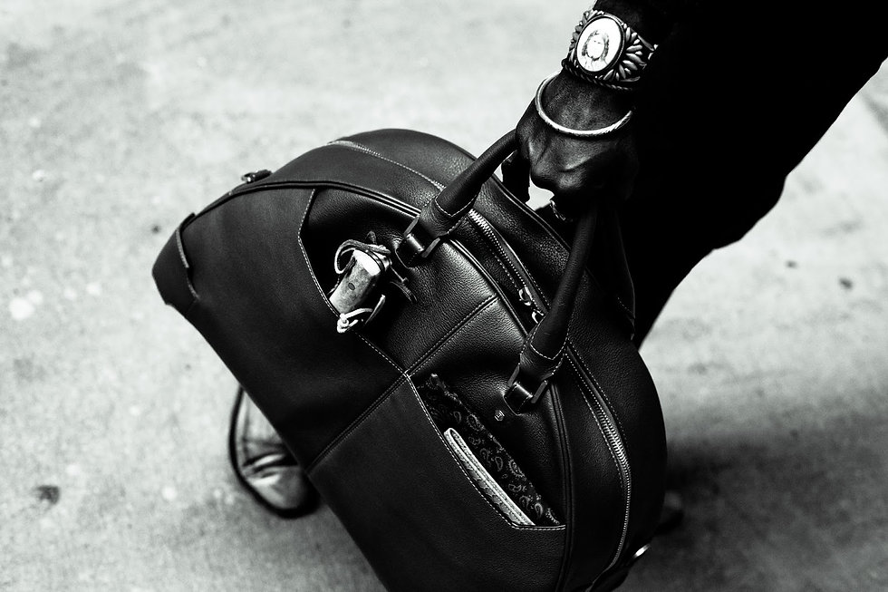 Belber Arch bowling bag leather black