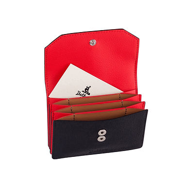 58TH ST. ACCORDION CARD HOLDER  Black/Red