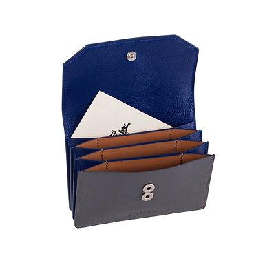 58TH ST. ACCORDION CARD HOLDER  Grey/Blue