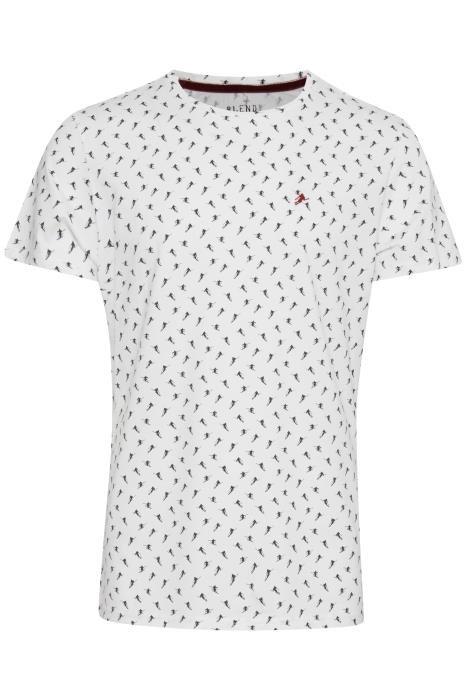 T-shirt: Blanc àmotif skieur  100% coton
