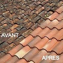décapage toiture avant apres