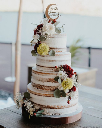 Naked cake _delicesdelyss _Cake toper _a